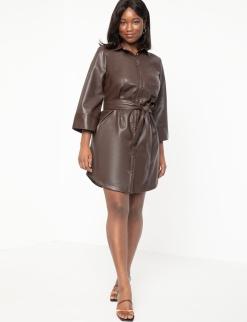eloquii vegan leather dress